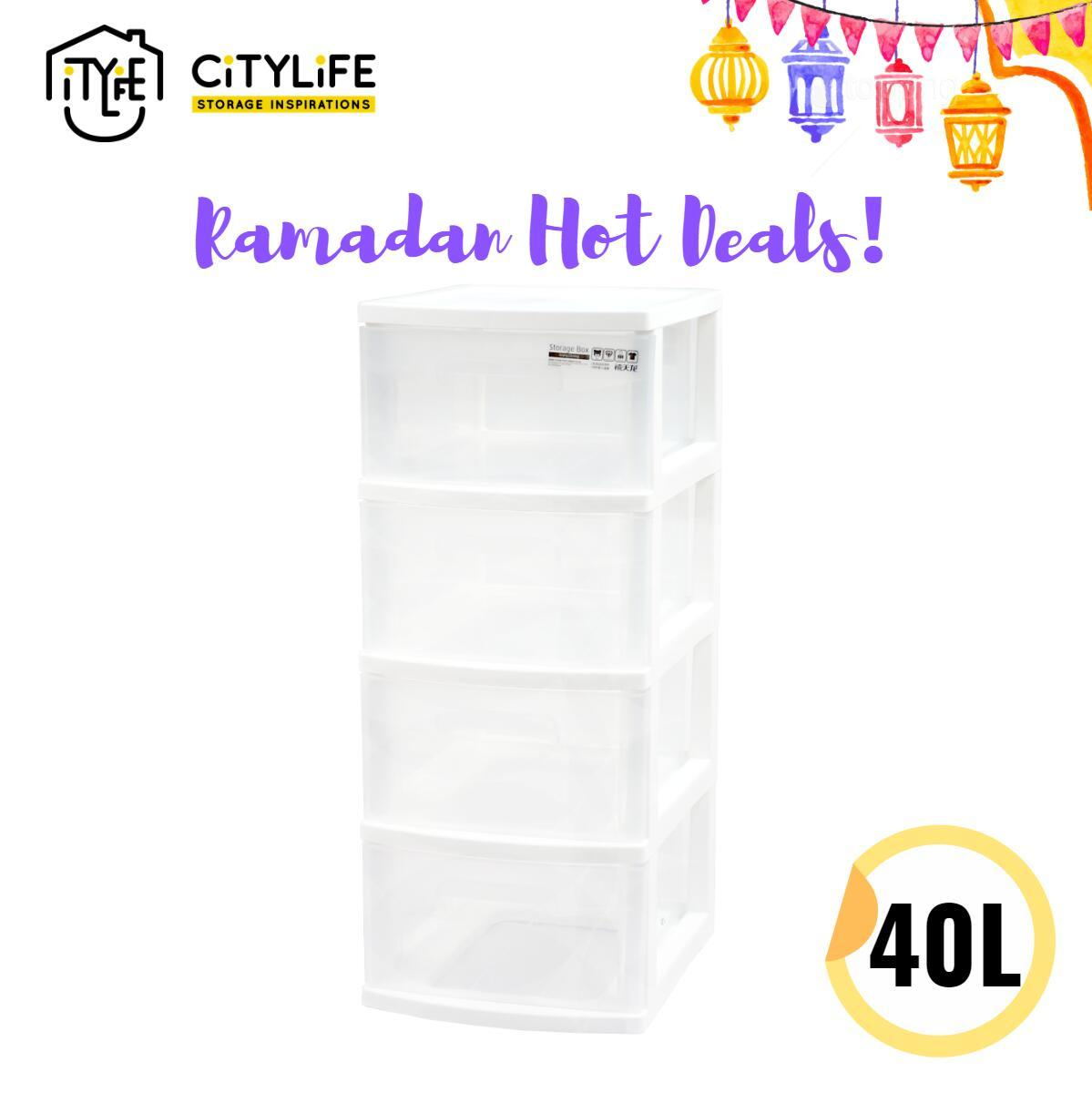 Citylife 40L 4 Tier Compact Cabinet