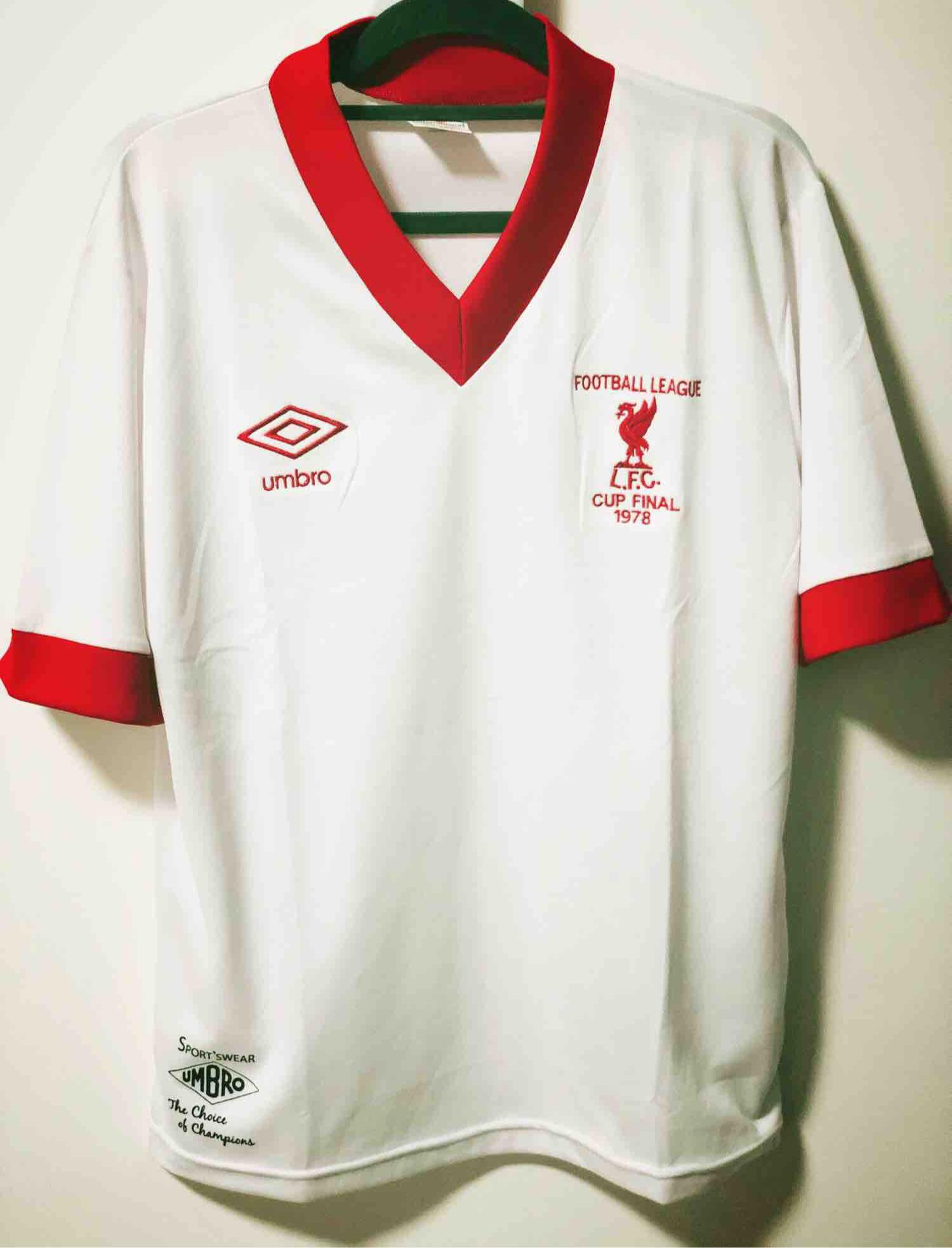 77/78 Liverpool Away FOOTBALL LEAGUE CUP FINAL Retro Shirt Football Jersey