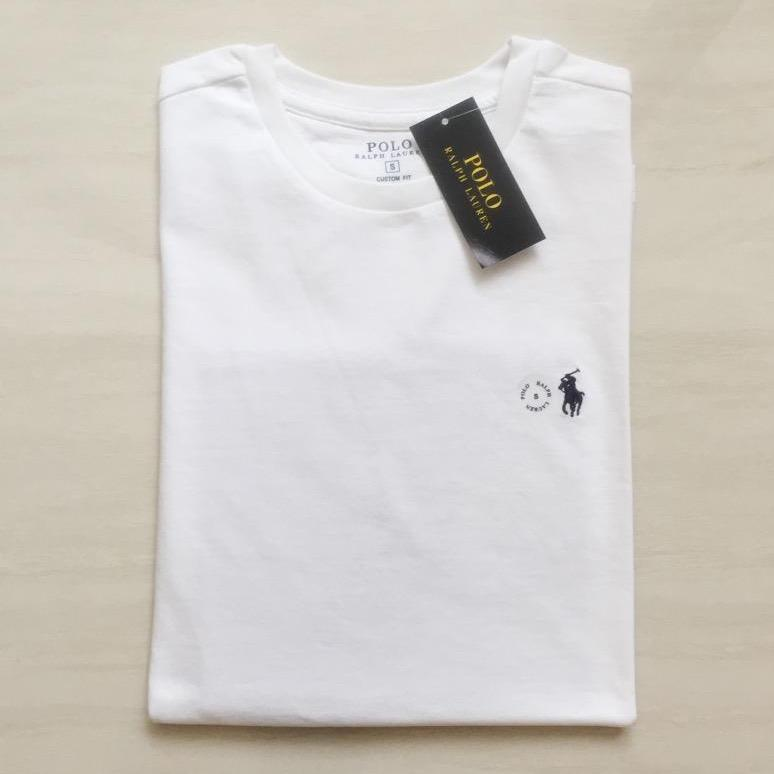 eb90e8ecb01dc Ralph Lauren Custom Fit T-Shirt White.
