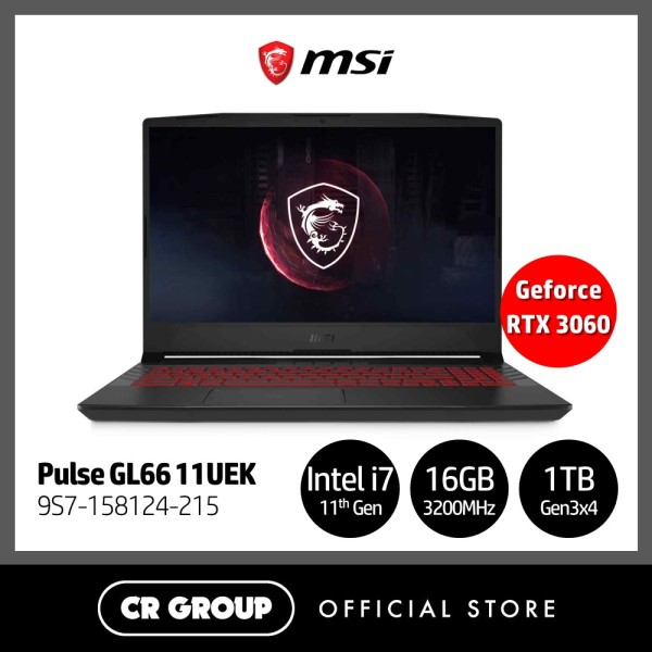 [Same Day Delivery] MSI i7 GL66 Pulse Series 144Hz Refresh Rate 15.6 Full HD Gaming Laptop GL66 11UEK | 11th Gen i7-11800H + HM570 Tiger Lake | 16GB RAM | 1TB SSD Gen3x4 | NVIDIA Geforce RTX 3070