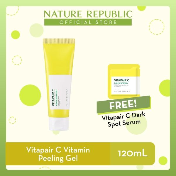 Buy Nature Republic Vitapair C Vitamin Peeling Gel - Vitamin C for Dull Skin (120 mL) + Vitapair C Dark Spot Serum (1mL) Singapore