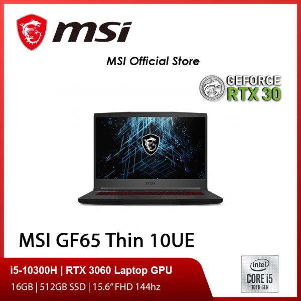 [Pre-order] MSI GF65 Thin 10UE-239SG (i5-10300H/16GB/512GB SSD/NVIDIA RTX 3060 6GB GDDR6/15.6FHD 144Hz/W10)-(2Y) [ETA 31/4]
