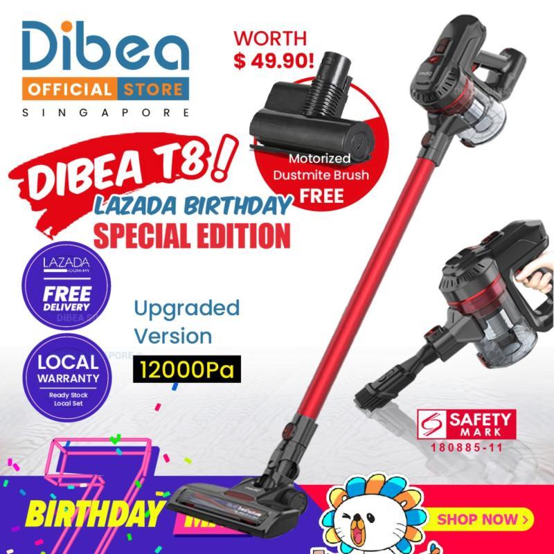 [Lazada Birthday Special Edition] Dibea T8 Cordless Vacuum Cleaner 2019 Singapore