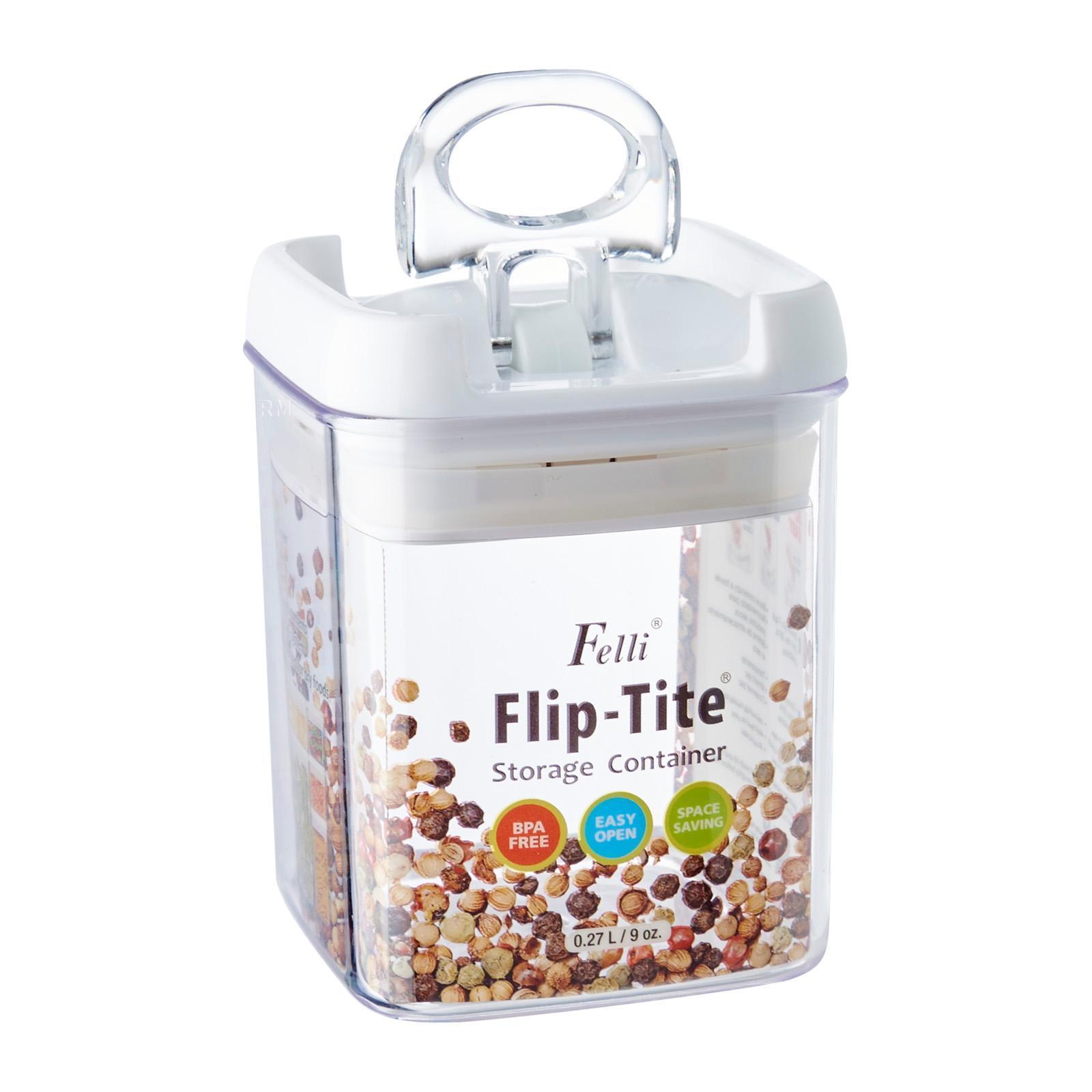 Felli Square Flip Tite Storage Container 0.27 L