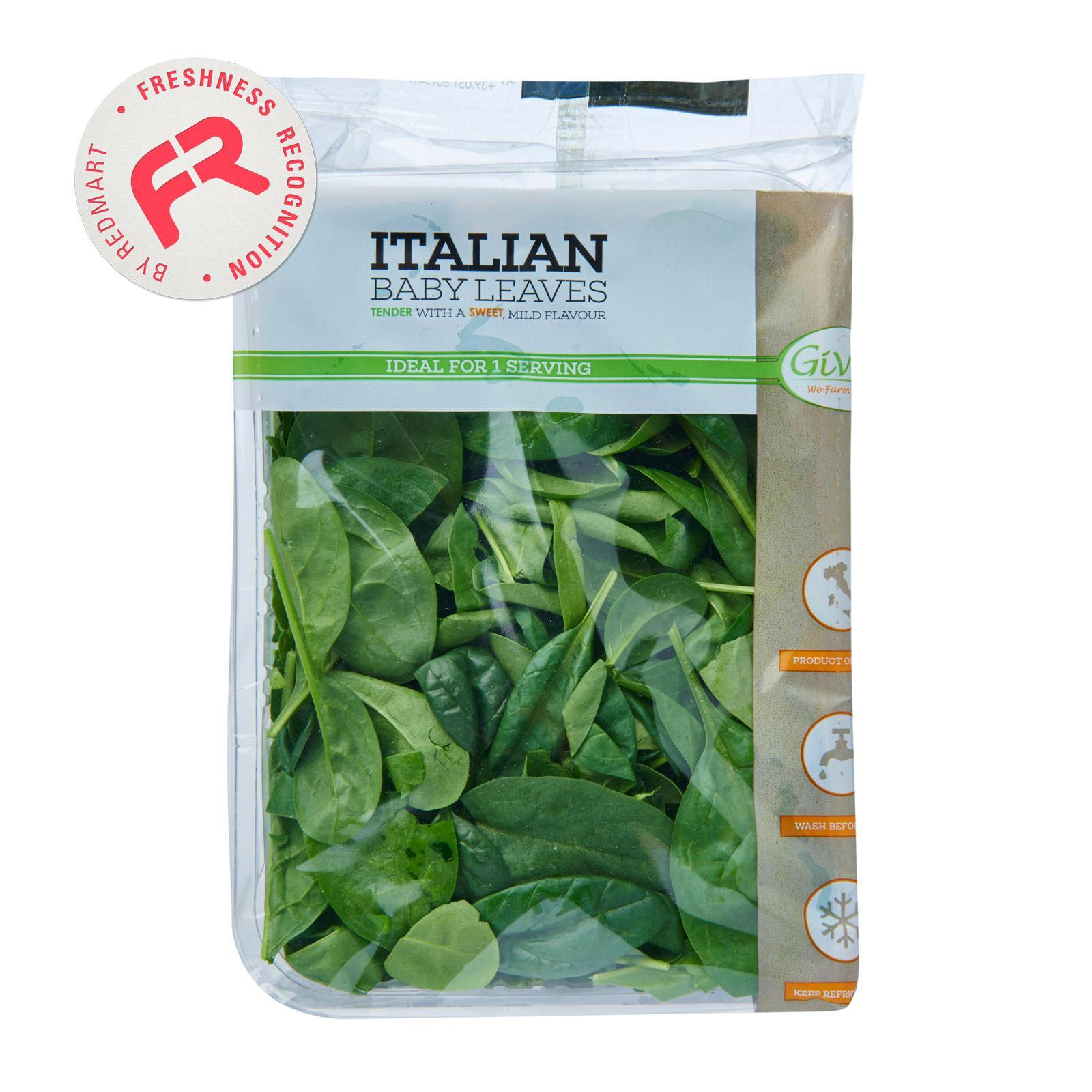 Givvo Italian Baby Spinach By Redmart.