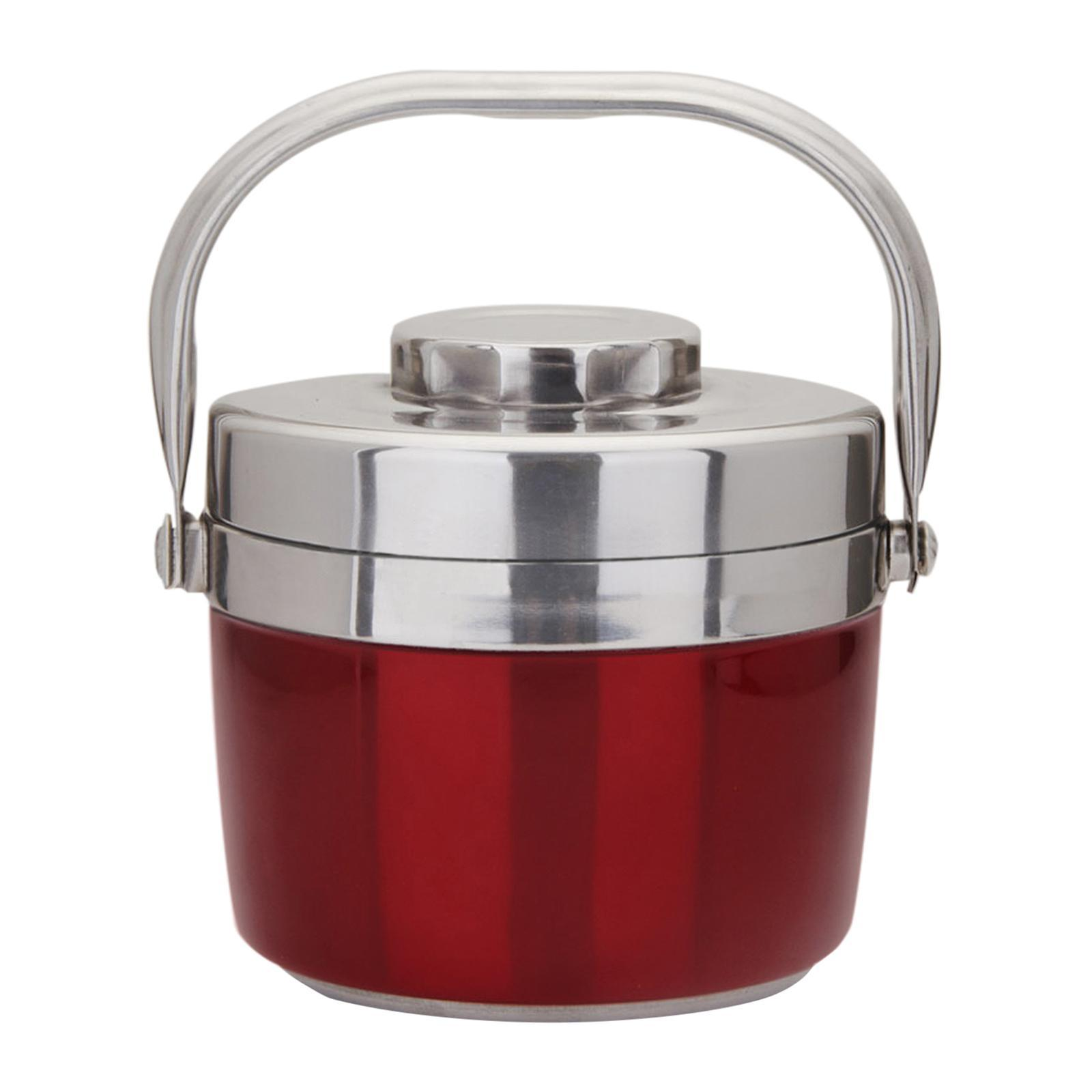 ALS Double Layer Stainless Steel Lunch Box 1.5L (Red) - Food Carrier
