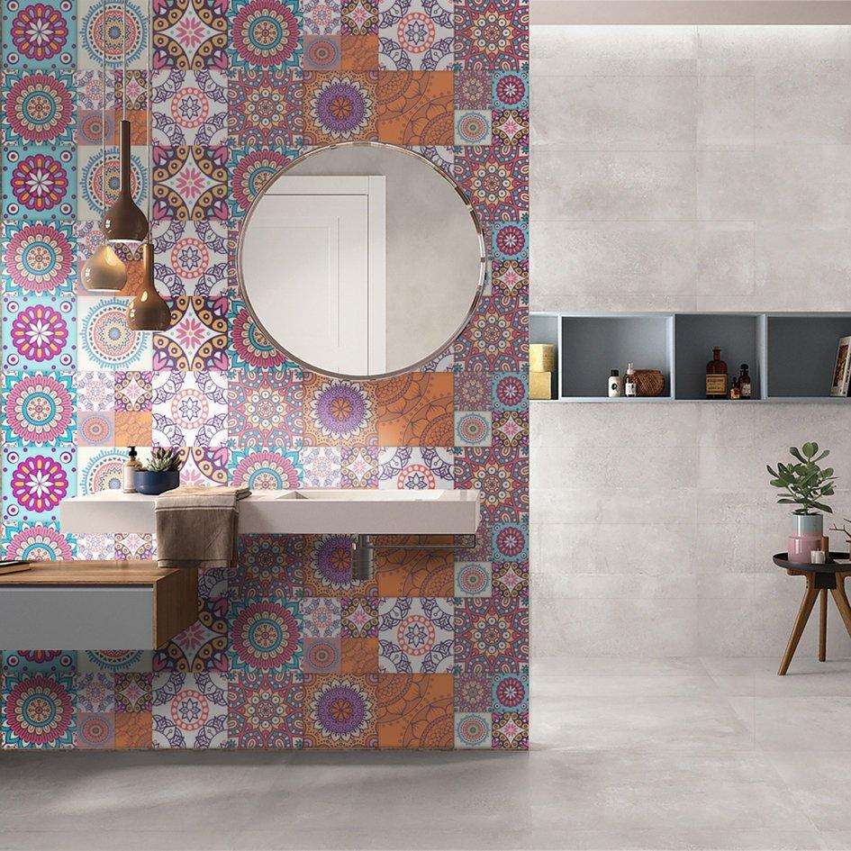 Cozy 500*20cm Ceramic TilePrinting Film PVC Floor Contact Paper Wall Stickers