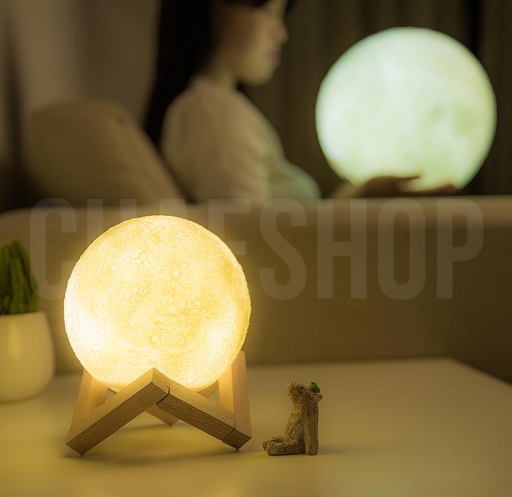 [UniqHome] 3D Moon Night Light Table Light