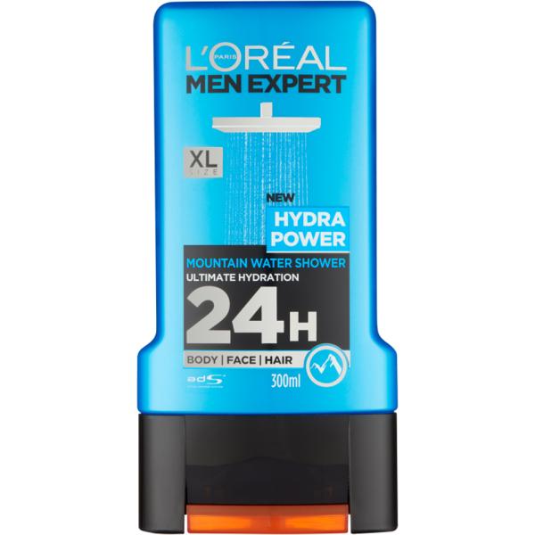 Buy LORÉAL PARIS MEN EXPERT HYDRA POWER SHOWER GEL 300ML Singapore