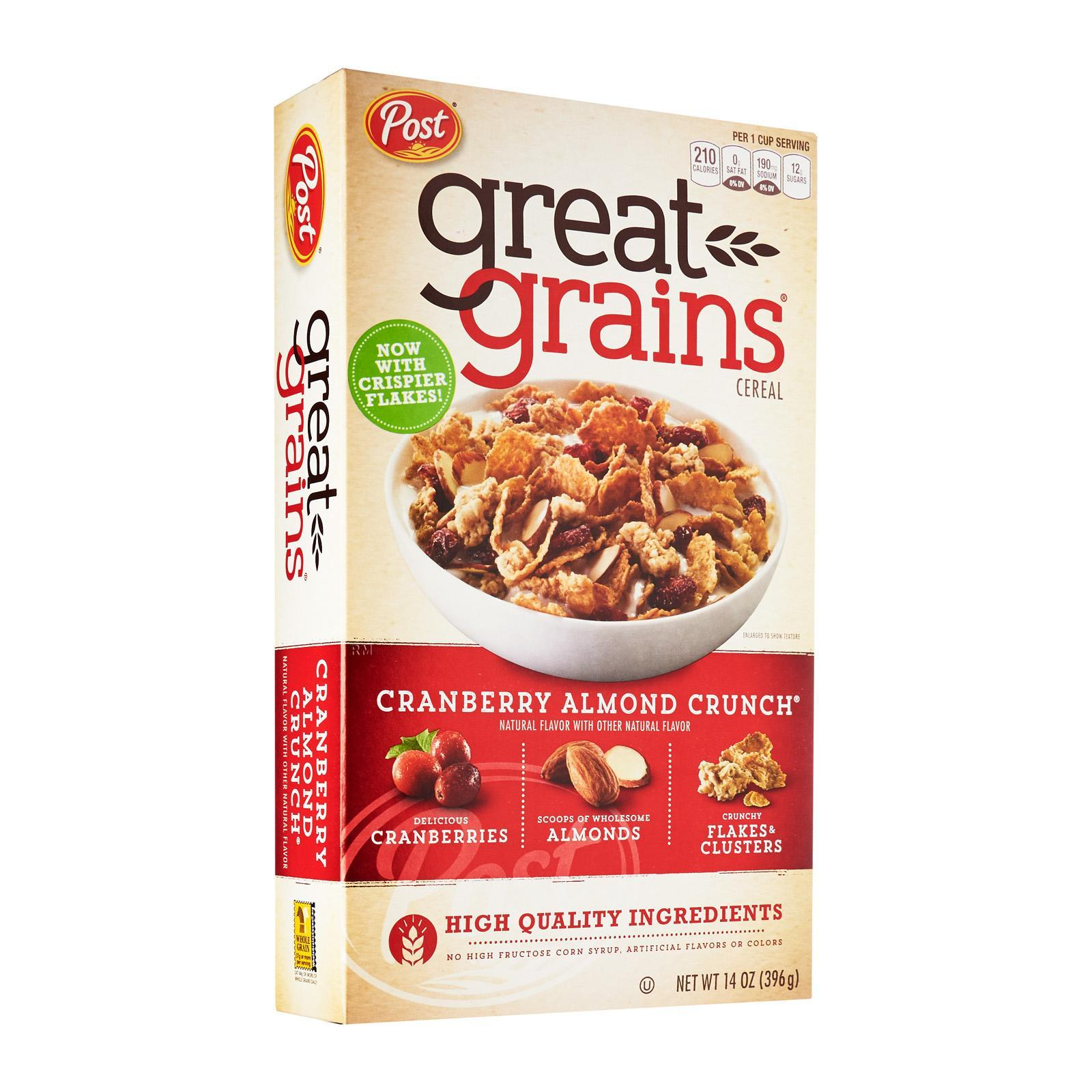 Post Selects Great Grains Cranberry Almond Crunch Whole Grain Cereal