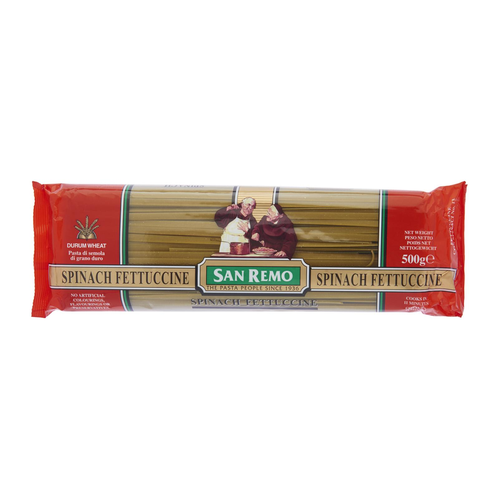 San Remo Spinach Fettucine No 13 By Redmart.