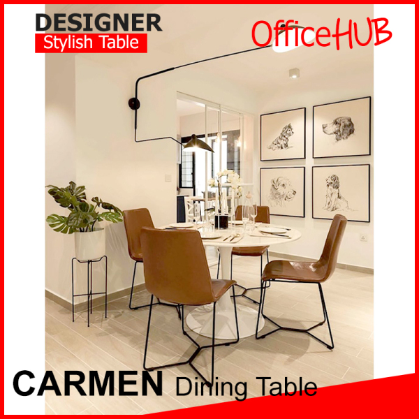 OFFICEHUB Carmen Designer  Dining Table Wooden Table  Pantry / Office / Side Discussion Table / Square
