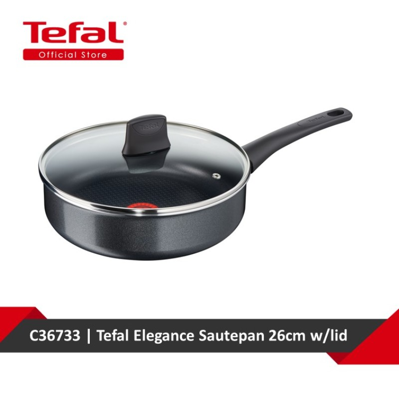 Tefal Elegance Sautepan 26cm w/lid C36733 Singapore