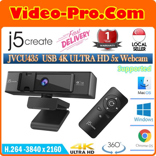 JVCU435 4K 5x Digital Zoom UHD Webcam