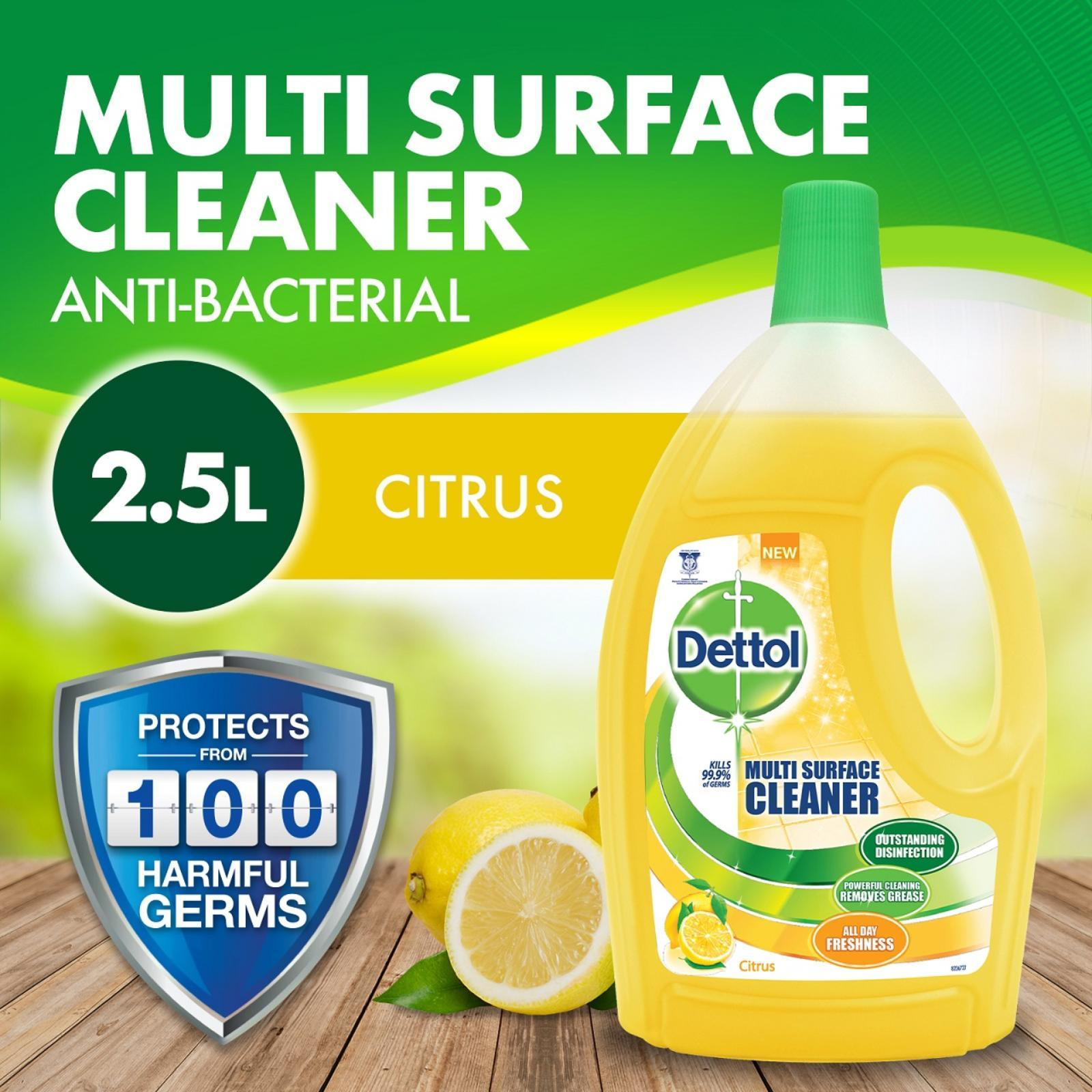 Dettol 4-in-1 Disinfectant Multi Surface Cleaner Citrus 2.5L