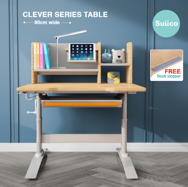 Suuco Clever Series C-1 | Study Table For Kids | Study Desk for Children | Height Adjustable Study Table for Children | Height Adjustable Study Desk for Kids