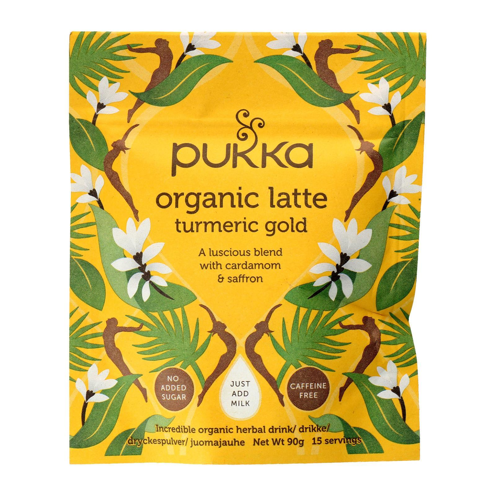 Pukka Herbal Ayurveda Pukka Organic Turmeric Gold Latte (4 x 90 g) - By Wholesome Harvest