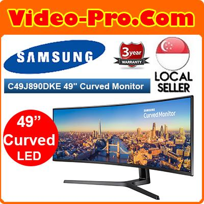 Samsung C49J890DKE 49Inch 3840x1080 144hz Type-C Business Monitor with 32:9 Super Ultra-Wide LC49J890DKEXXS
