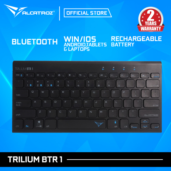 Alcatroz Trilium BTR1 Ultra-Slim Rechargeable Bluetooth Keyboard For Smartphone and Smart TV Singapore