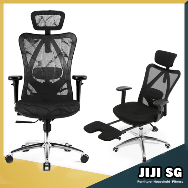 (Delivered in 3 Days)(JIJI SG) 2020 Asami / Maemi Office Chair ★ Office Chair ★Mesh ★Ergonomic Office Chair ★Aluminium ★Back Support Singapore