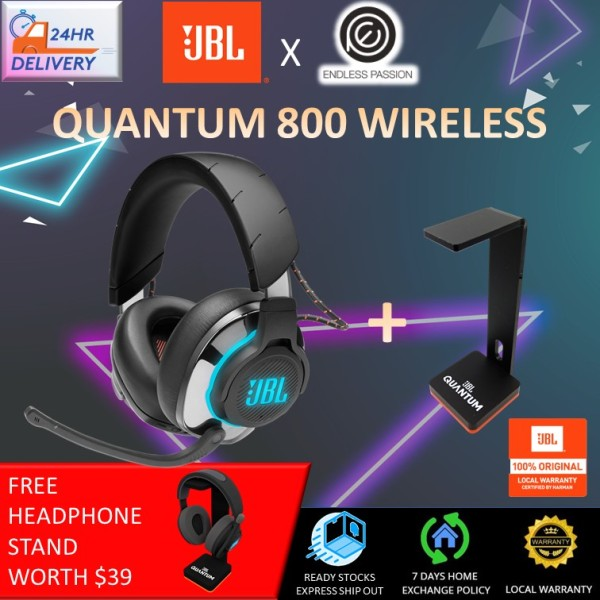 JBL Quantum 800 - Wireless Over-Ear Performance Gaming Headset with Active Noise Cancelling and Bluetooth 5.0 [24 Hours Delivery + FREE Headphone Stand] Singapore