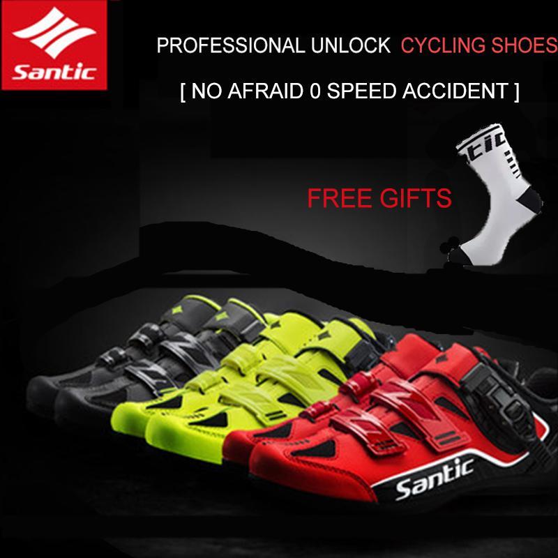 7517e6e6c0c SANTIC Men MTB Road Bike Shoes Non-locking Power Cycling Shoes Rotation  Buckle
