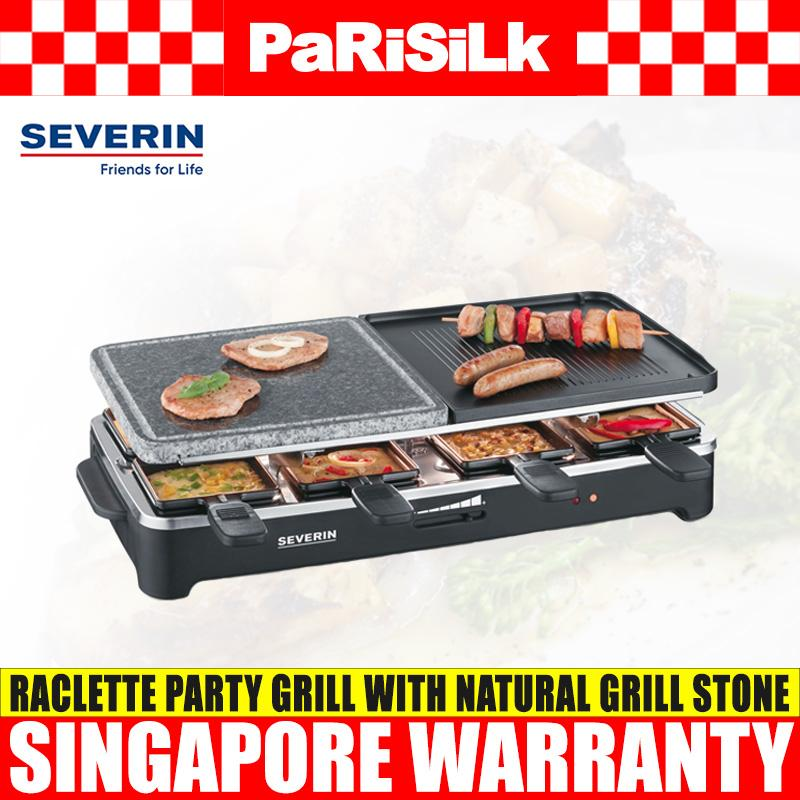 Severin RG 2341 Raclette Party Grill with Natural Grill Stone