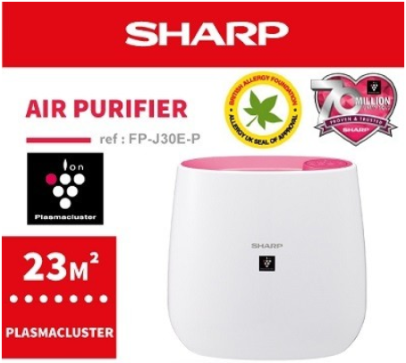 SHARP FP-J30E 23m² PINK PLASMACLUSTER AIR PURIFIER Singapore