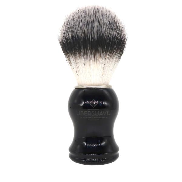 Buy Ubersuave Eco-Razor Black & Chrome Handle Synthetic Bristle Shaving Brush Singapore