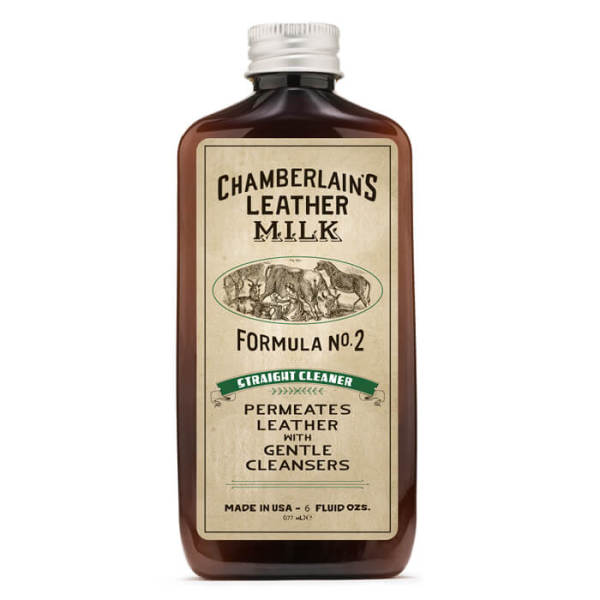 CHAMBERLAINS LEATHER MILK - STRAIGHT CLEANER NO. 2 – PREMIUM LEATHER DISINFECTANT & CLEANER -6 oz