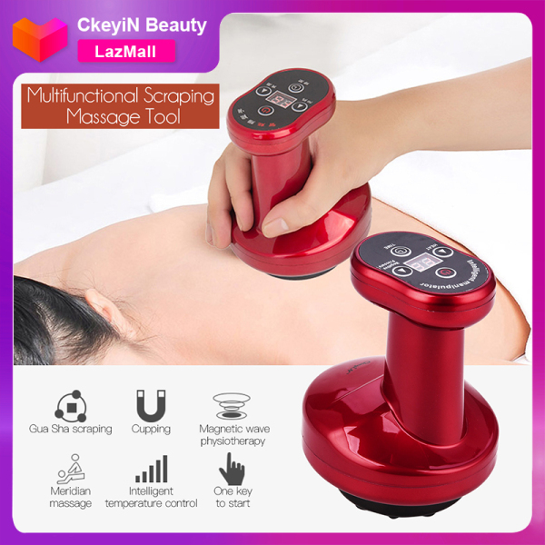 Buy CkeyiN Electric Gua Sha Scrapping Massager, Hot Compress Cupping Therapy Tool for Relieve Legs Arms Back Muscle Pain, Rechargeable Singapore