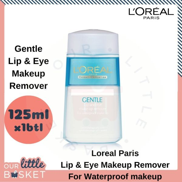 Buy LOREAL PARIS| SKINCARE| Gentle Lip & Eye Makeup Remover 1x 125ml or 2x 125ml Singapore