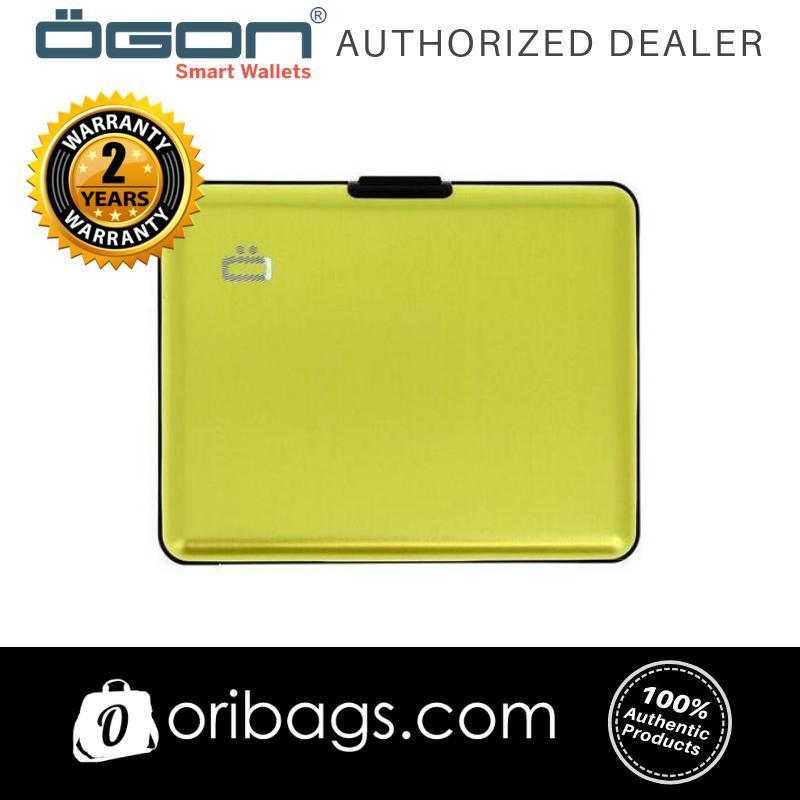 Ogon Big Stockholm Wallet RFID Safe - Green Lime