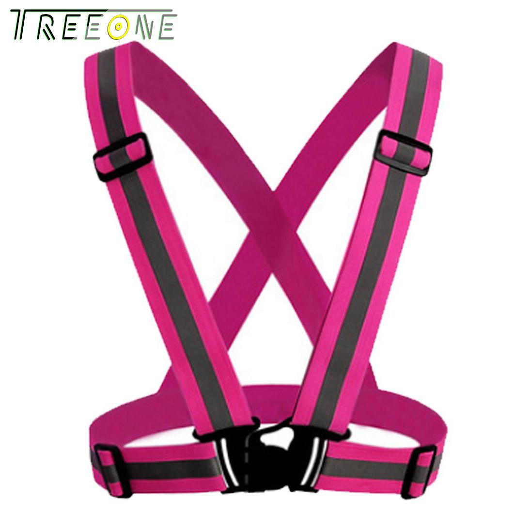 Treeone Safety Vest Reflective, High Visibility Adjustable And Elastic Safety Reflector Vest For Running, Walking, Motorcycle By Treeone.