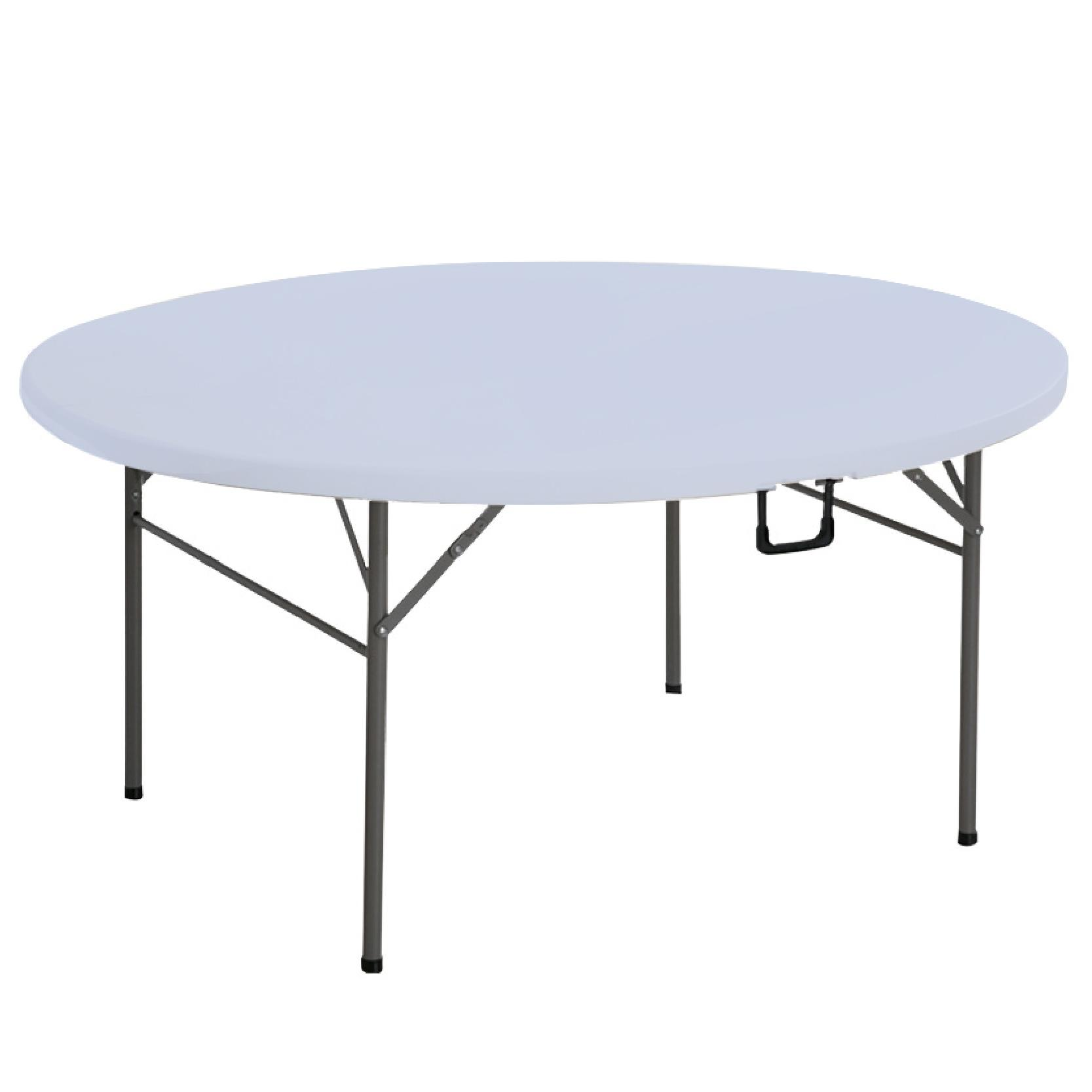 JIJI Portable Travel Outdoor Folding HDPE Round Table - Outdoors / Foldable / Furniture (SG)