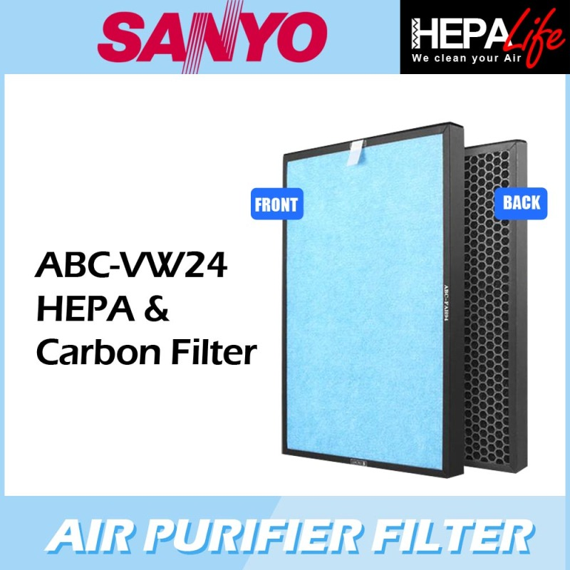 SANYO ABC-VW24 Compatible Hepa & Carbon Filter - Hepalife Singapore
