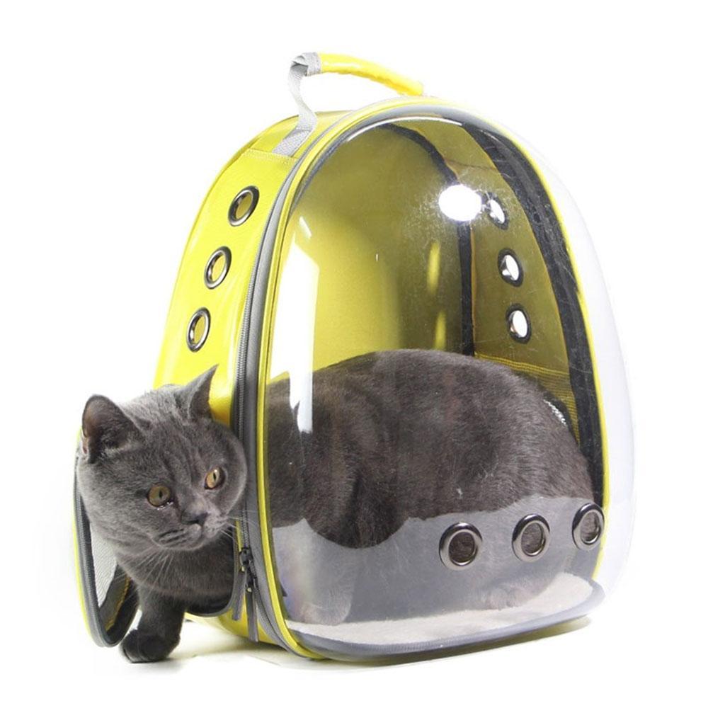 Niceeshop Pet Hiking Backpack,oxford Cloth Pet Backpack Cat Dog Universal Travel Bag Transparent Ventilation By Nicee Shop.