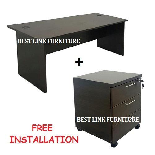 BEST LINK FURNITURE BLF 1.5m Writing Table / Office Desk + 3 Drawers Mobile Pedestal