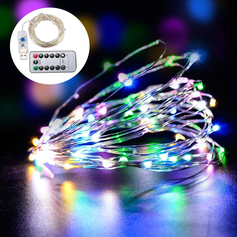 USB Lights 10m LED String Light 8 Mode With Remote Control For Christmas Bedroom Garden Wedding Decoration (Waterproof) Singapore