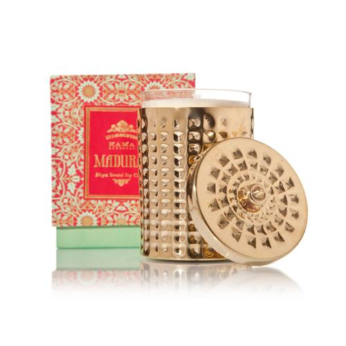 MOGRA SCENTED SOY CANDLE WITH BRASS HOLDER