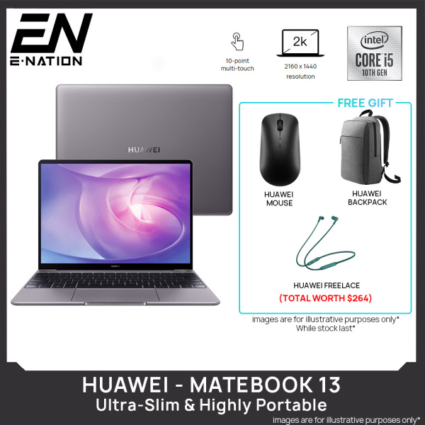 (Same Day Delivery) Huawei MateBook 13 - Intel i7 / i5 with Nvidia GeForce MX250 13 with Slim & Light Laptop