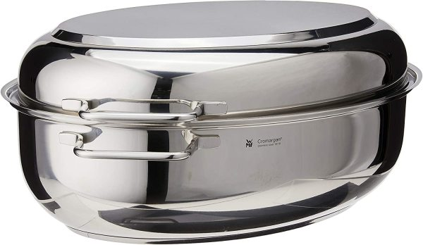 WMF 16.25 Inch Stainless Steel Deep Oval Professional Pro Chef Oven Roasting Roast Saute Pan Pot Singapore