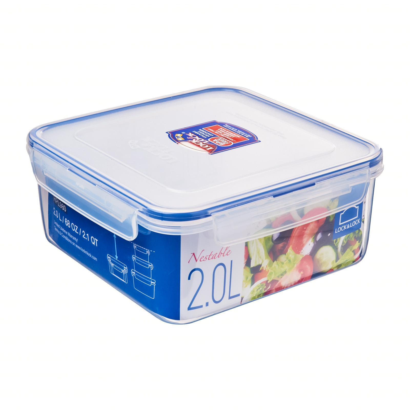 Lock and Lock Nestable Square Food Container 2.0L