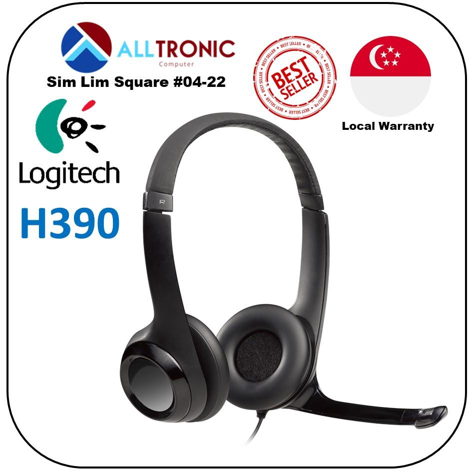 Logitech Headset H390 USB Computer Headset With High-Definition sound and  on-ear controls/1Yr Local Warranty/Singapore Authorised Reseller