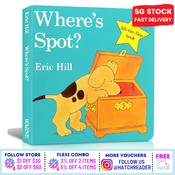 [SG Stock] Where is Spot English Story Flap book for children child kids baby 0 1 2 3 4 5 6 years old learning sensory play flash card picture  animal