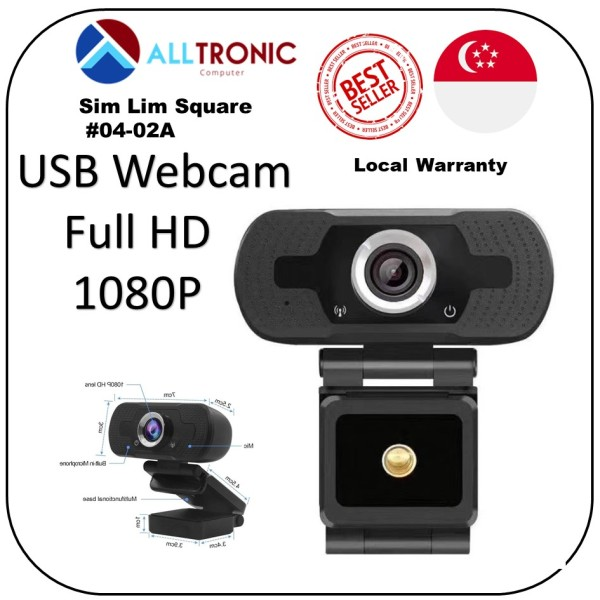 Full HD USB  Webcam 1080P Black Model: ZB201-XM-2