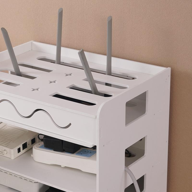 WIFI Router Storage Box Wall Hangers Wire Socket Cat Set Top Box Storage Shelf-Free Punched Cord Manager Cable Box