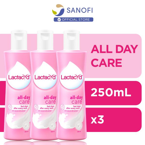 Buy Lactacyd Feminine Wash All Day Care 250ml x3 Singapore