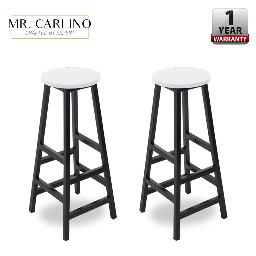 KIEL Series Tall Steel Leg Wooden Top Kitchen Bar Stools COMBO SETS