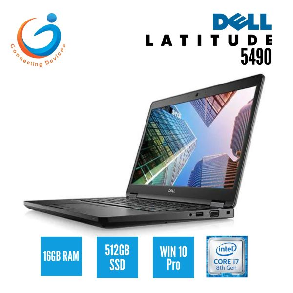 Dell Latitude 5490 / Intel i7 8th Gen / 16GB Ram / 512 SSD / Windows 10 Pro [Warranty until 13 Jan 2022][Same Day Delivery]